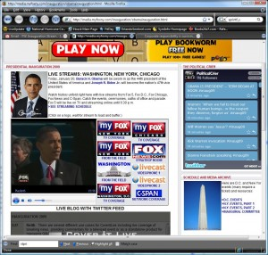 Obama inauguration screen cap